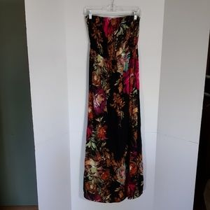 Xhilaration strapless floral maxi dress.  Large